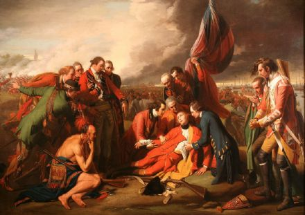 West, Benjamin: The Death of General Wolfe. War/Historical Fine Art Print.  (00111)